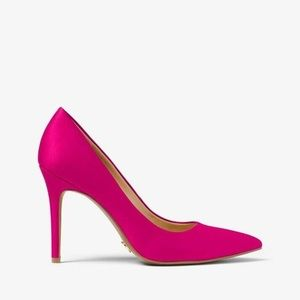 Michael Kors Claire Pump Satin in Ultra Pink